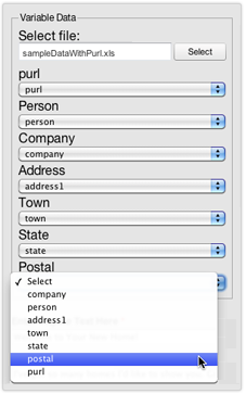 web to print design template data merge matching